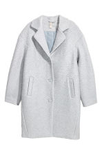 Wool-blend bouclé coat - Light grey - Ladies | H&M CN 2