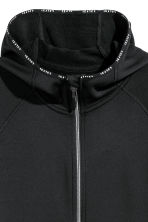 Fleece jacket with a hood - Black - Ladies | H&M 3