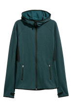 Fleece jacket with a hood - Dark turquoise marl - Ladies | H&M 2
