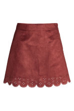 Imitation suede skirt - Red - Ladies | H&M GB 2