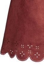 Imitation suede skirt - Red - Ladies | H&M GB 3