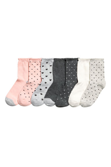 7-pack socks - Powder pink/Grey -  | H&M