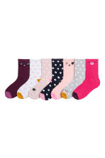 7-pack socks - Old rose/Spotted -  | H&M 1