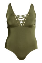 H&M+ 連身泳裝 - Khaki green - Ladies | H&M 2