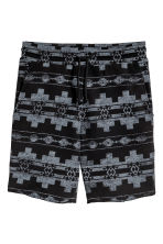 Patterned sweatshirt shorts - Black/Patterned - Men | H&M 2