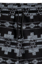 Patterned sweatshirt shorts - Black/Patterned - Men | H&M 3