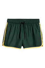 Short swim shorts - Dark green/Yellow - Men | H&M CA 2