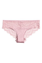 Lace hipster briefs - Dusky pink - Ladies | H&M IE 2