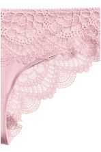 Lace hipster briefs - Dusky pink - Ladies | H&M IE 3