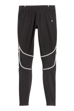 Winter running tights - Black -  | H&M CN 2