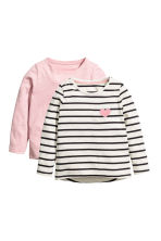 2-pack tops - Light pink -  | H&M 2