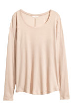 Long-sleeved top - Light beige - Ladies | H&M CA 2