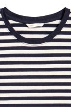 Jersey dress - Dark blue/Striped - Ladies | H&M CN 3