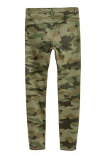 Biker jeans - Khaki green/Patterned - Men | H&M CN 3