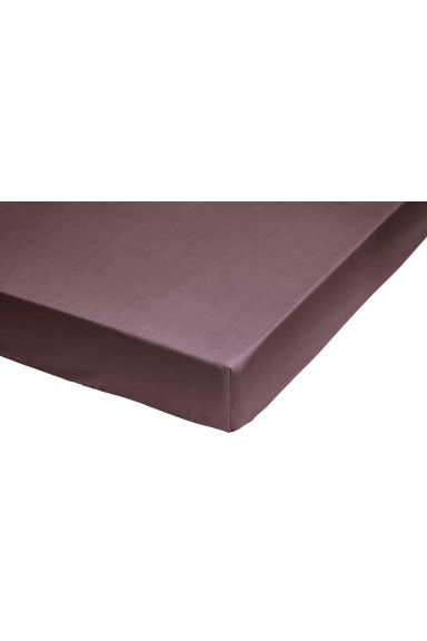 Fitted cotton sheet - Plum - Home All | H&M CA 1