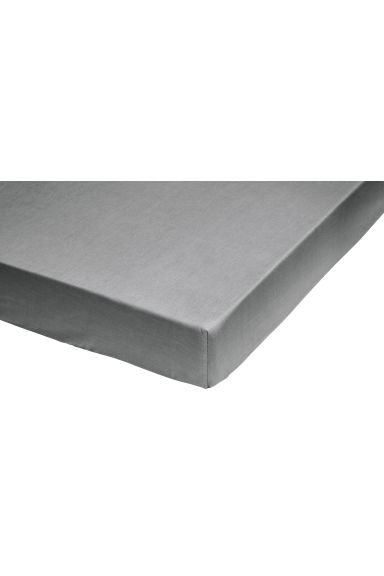 Fitted cotton sheet - Grey -  | H&M GB