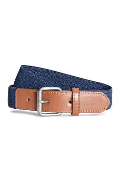 Elasticated fabric belt - Dark blue - Kids | H&M 1