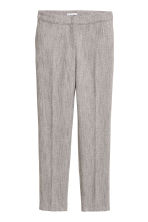 Suit trousers - Grey/Herringbone-patterned - Ladies | H&M 2