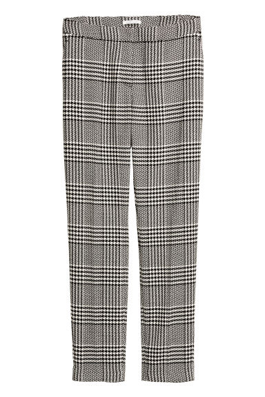 Suit trousers - Black/white checked - Ladies | H&M CA