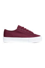 Platform trainers - Burgundy - Ladies | H&M 1