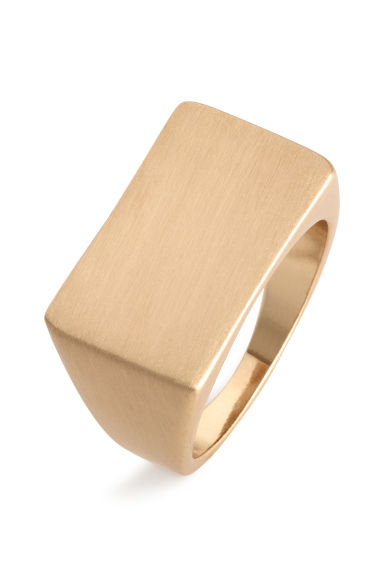 Signet ring - Gold - Men | H&M CN 1