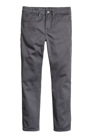 Generous fit Twill trousers - Dark grey -  | H&M CN