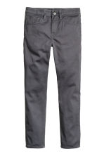 Generous fit Twill trousers - Dark grey -  | H&M 1