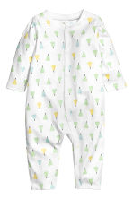 Printed all-in-one pyjamas - White/Fruit -  | H&M 1