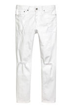 Relaxed Skinny Jeans - 白色牛仔布 - Men | H&M CN 2
