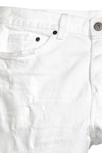 Relaxed Skinny Jeans - 白色牛仔布 - Men | H&M CN 4
