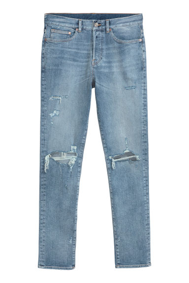 Relaxed Skinny Jeans - Denim blue/Trashed - Men | H&M 1