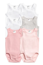 6-pack sleeveless bodysuits - Light pink -  | H&M CN 2