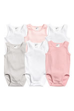 6-pack sleeveless bodysuits - Light pink -  | H&M CN 1