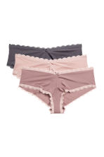 Set van 3 slips - Hipster - Roze - DAMES | H&M BE 1