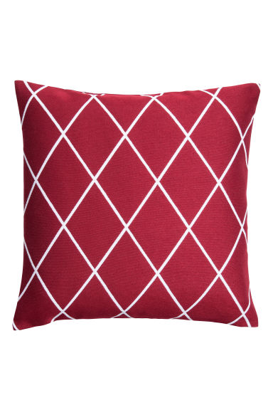 Jacquard-weave cushion cover - Dark red - Home All | H&M IE