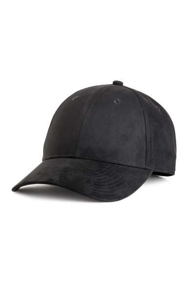 Imitation suede cap - Black - Men | H&M CN