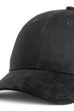 Imitation suede cap - Black - Men | H&M 3