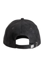 Imitation suede cap - Black - Men | H&M 2