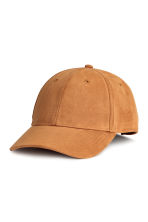Imitation suede cap - Light brown - Men | H&M CA 1