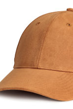 Imitation suede cap - Light brown - Men | H&M CA 3