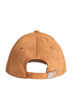 Imitation suede cap - Light brown - Men | H&M 2