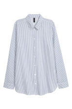Cotton shirt - Blue/Striped - Ladies | H&M 2