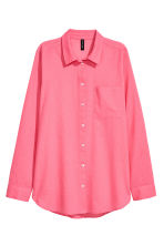 Cotton shirt - Pink - Ladies | H&M CN 2