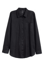 Cotton shirt - Black - Ladies | H&M 2
