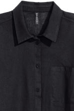 Cotton shirt - Black - Ladies | H&M 3
