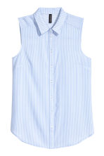 Sleeveless blouse - Light blue - Ladies | H&M CN 2