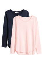 2-pack tops - Light pink/Dark blue -  | H&M 2