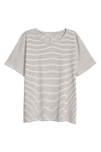 棉質混紡T恤 - White/Striped - Ladies | H&M 2