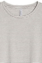 棉質混紡T恤 - White/Striped - Ladies | H&M 3