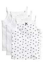 3-pack jersey strappy tops - White/Butterflies - Kids | H&M 1